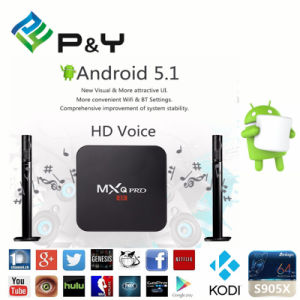 2017mxq PRO Amlogic S905 Kodi 16.0 4k Android TV Box pictures & photos