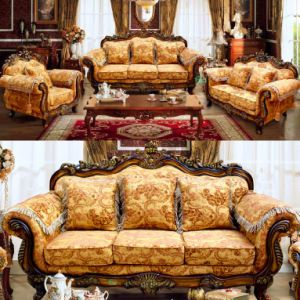 Classic Fabric Sofa with Cabinets for Living Room Furniture (D929)