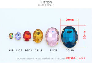 Glass Pendant Oval Glass Rhinestone Accessories for Beaded Necklace (SW-Oval 8*10mm) pictures & photos