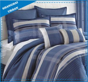Navy Stripe Theme Microfiber 7PCS Comforter Bedding pictures & photos