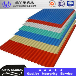 Ral9003 PPGL Color Coated Galvalume Corrugated Roof Sheet Wave Tile pictures & photos