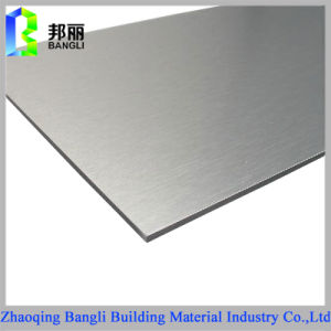 Gold or Silver Brushed PE PVDF Coating Aluminum Composite Panel pictures & photos