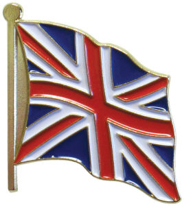 Casting Zinc Alloy Enamel Badge Custom UK Flag Lapel Pin pictures & photos
