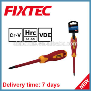 Fixtec Safety Hand Tools CRV Slotted Phillips Pozidriv Insulated Screwdriver pictures & photos