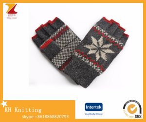 Men′s Winter Half-Finger Wool Gloves Double-Layer Fingerless Gloves pictures & photos