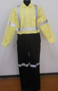 Yellow and Black Workwear Overall
