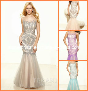 Sequins Beading Evening Dress Drop Shipping Prom Gown P3117 pictures & photos