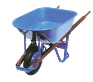 Wooden Handle Wheelbarrow (WH7808) pictures & photos