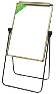 Whiteboard Flip Chart with Stand with Clips and Pen Tray