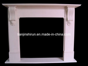 Simple Design Marble Fireplace (XF-086) pictures & photos