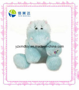 Light Blue Hippo Stuffed Toys (XMD-0091C) pictures & photos