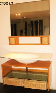 Hot Solid Wood Cabinet Bathroom C2017 pictures & photos