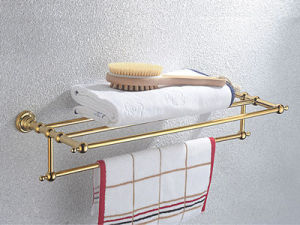 Classic Series -- Bath Shelf with Towel Bar (CL-09-PVD)