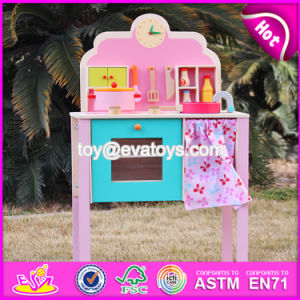New Design Pretend Play Pink Wooden Girls Kitchen Toys W10c150 pictures & photos
