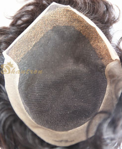 Natural Looking Swiss Lace Chinese Virgin Human Hair Toupee