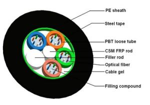 Duct Fiber Optical Cable (GYFTS) pictures & photos