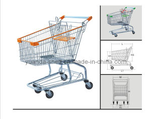 Supermarket Trolley, 100L Grocery Shopping Cart pictures & photos