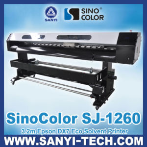 3.2 M Printing Machine, Sinocolor Dx7 Sj-1260, 1440 Dpi, for Outdoor&Indoor Printing pictures & photos