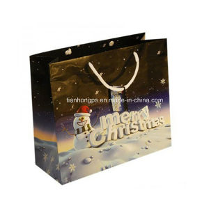 Recycled Christmas Paper Gift Bags (OEM-PB025) pictures & photos