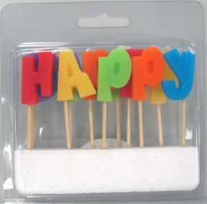 """Happy Birthday"" Toothpick Candle (UCT-5007)"