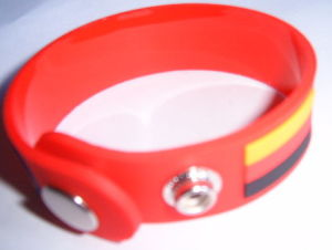 Silicone Wristband With Button