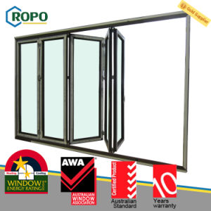 Veka Profile UPVC Plastic Folding Glass Windows and Doors pictures & photos