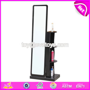 Wholesale Cheap Wooden Modern Mirrored Bedroom Set with Cabinet W08h083 pictures & photos