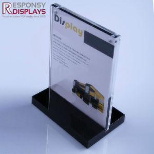 Counter Top Acrylic Poster Card Display Holder Brochure Display Shelf pictures & photos