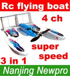 4 CH 3in1 Hydro-Glider RC Toys, Radio Remote Control Airplane Flying Boat