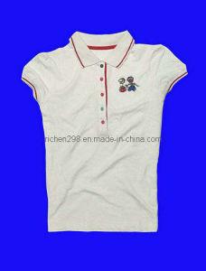 Women′s Polo Cotton T Shirt