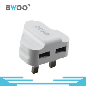 Private Mold UK Plug Dual USB Travel Charger for Mobile Phone pictures & photos