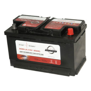High CCA 12V 80ah AGM Start-Stop Battery Car Battery pictures & photos