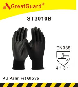 Lite Flex PU Palm Glove (ST3010B, CE Certificated) pictures & photos