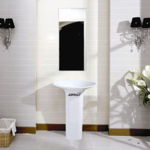 100% Acrylic Solid Surface Pedestal Basin pictures & photos