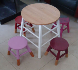 Wood Table with 4 Stool