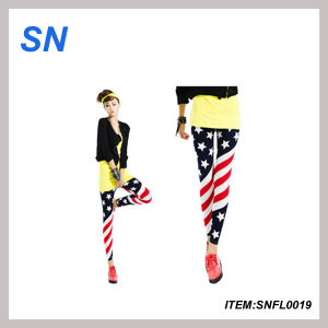 Fashion Leggings with American Flag (SNFL0019) pictures & photos