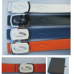 Lichee Pattern Multi Color Golf Belt with Ball Marker for Sport pictures & photos