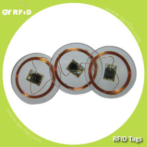 RFID Disc Tag, NFC Tags, Em4102 Disk NFC Sticker Tag pictures & photos