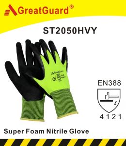 Supershield Nitrile Foam Glove (ST2050HVY) pictures & photos