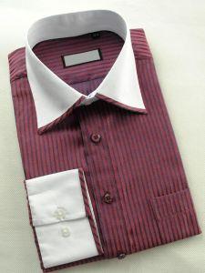 Men Stripe Leisure Shirts Dress Shirt