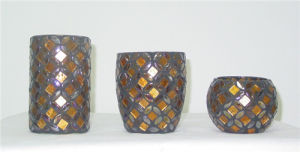 Colorful Glass Mosaic Candle Jar (DRL05311) pictures & photos