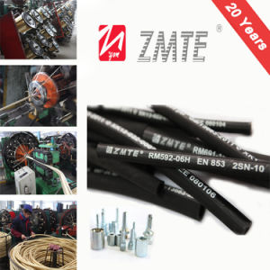 SAE 100r2 Flexible Hydraulic Hose/ Rubber Corrugated Hose pictures & photos