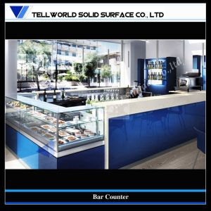 Unique Design Acrylic Solid Surface Wine Bar Counter (TW-87) pictures & photos