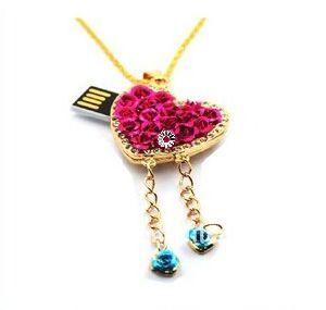 Beautiful Necklace Diamond USB Stick (TF-0361) pictures & photos
