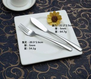 High-Class 304 /18-10 Mirror Polished Stainless Steel Dinner Fish Fork (C032)