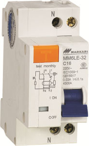 1+N Two Pole C16 Test Monthly Circuit Breaker Le-32 pictures & photos