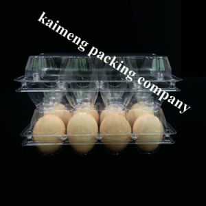 China Supply 2X4PCS 8 Cells Clear Plastic Egg Tray Sulit for Chicken pictures & photos