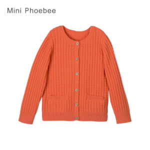 Phoebee Wool Children Wear Girls Knitted Sweater for Winter pictures & photos