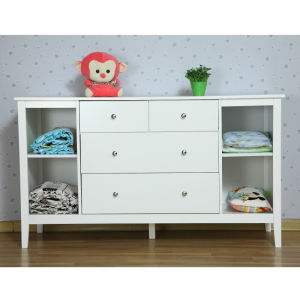 White New Zealand Pine Baby Change Table 4 Chest of Drawers