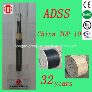 ADSS 8 Core Double Sheath Non-Armored All Dielectric Self-Supporting Loose Tube Optical Fiber Cable From China pictures & photos